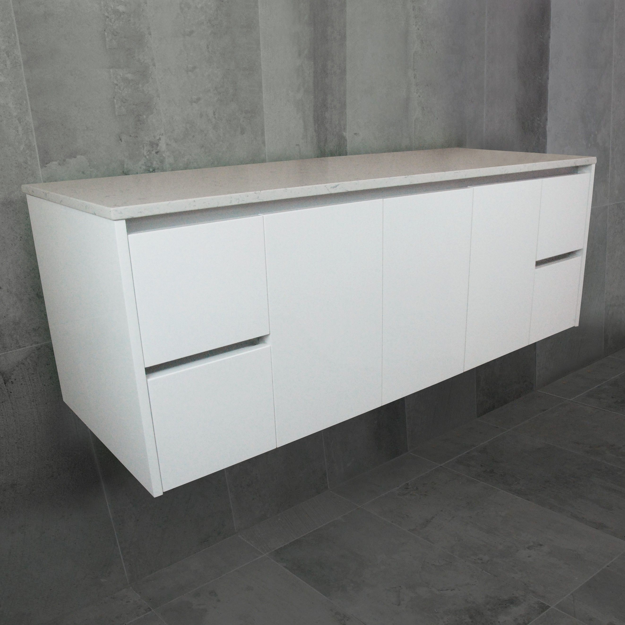 Vista Wall Mount Vanity Cabinet Without Top 1500mm