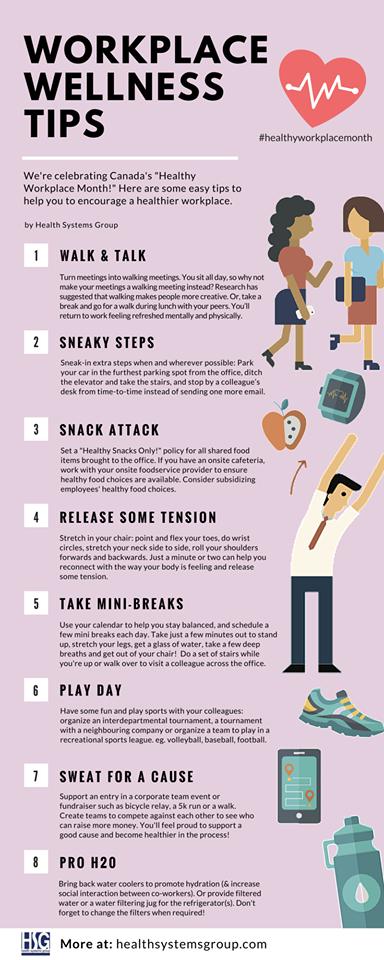 Workplace Wellness Tips! … | Work | Workp…