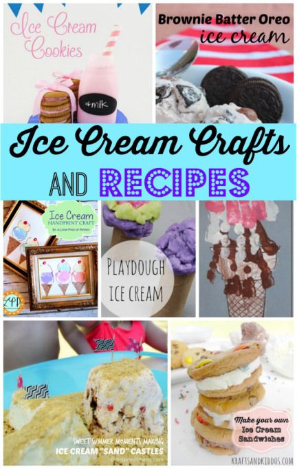 Ice Cream Crafts and Recipes