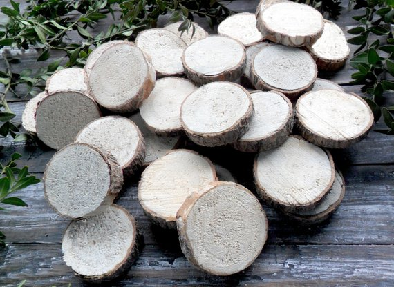 2 Small Wood Slices For Crafts Tree Slices Branch Slices Etsy In 2020 Wood Slices Wood Slice Art Wood Rounds
