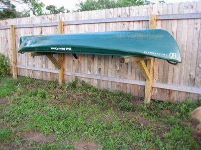 Mighty Mods Privacy Fence Canoe Rack Kayak Storage Garage