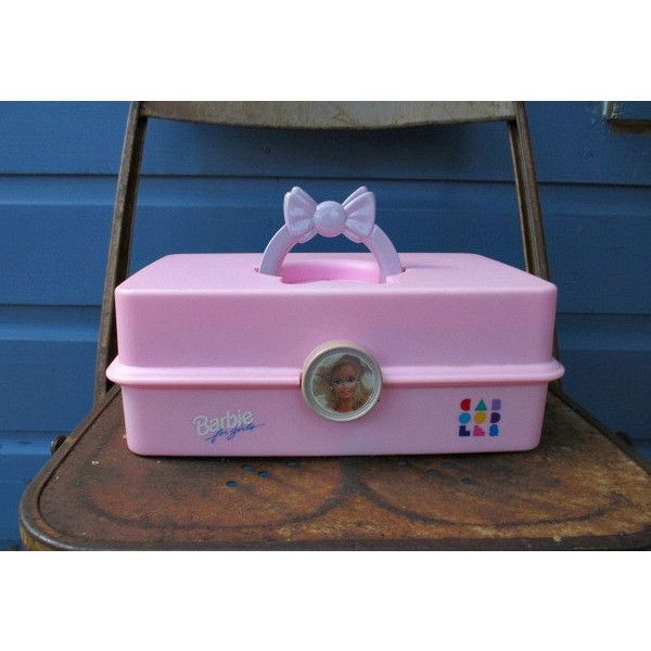 Exceptionnel Barbie Caboodle 90u0027s Pink Storage Container Make Up Storage Kaboodle ($11)  ❤ Liked On