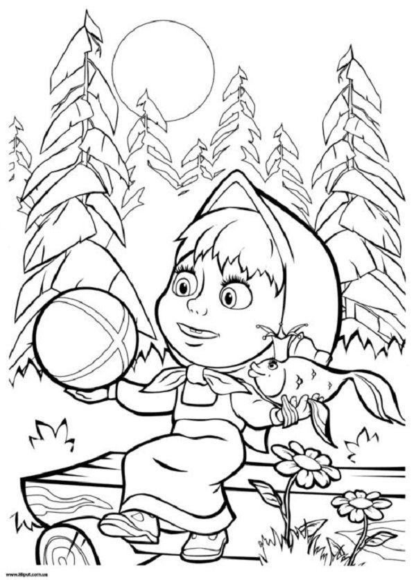 Masha I Medved Coloring Pages Bear Coloring Pages Masha