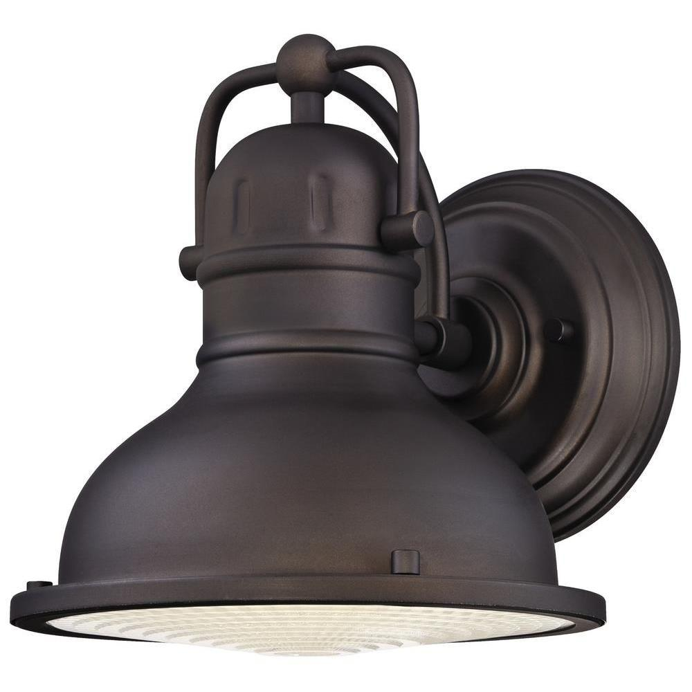Westinghouse Orson 1 Light Oil Rubbed Bronze Outdoor Integrated Led Wall Lantern Sconce 6203400 Outdoor Barn Lighting Outdoor Wall Lighting Outdoor Wall Sconce