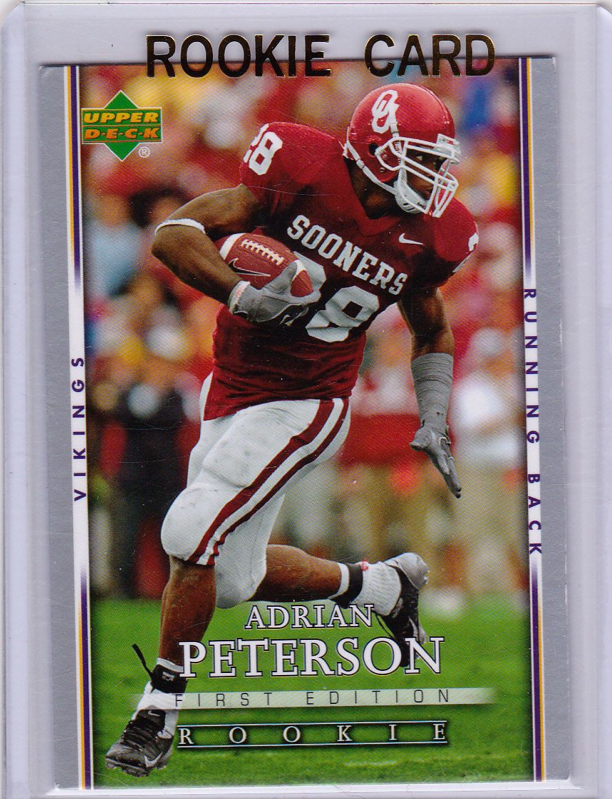 Adrian Peterson 1st Edition Red Hot Rookie Card Upper Deck