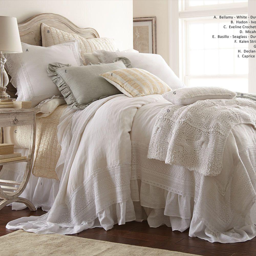 BELLAMY DUVET COVER, WHITE Duvet covers, White duvet