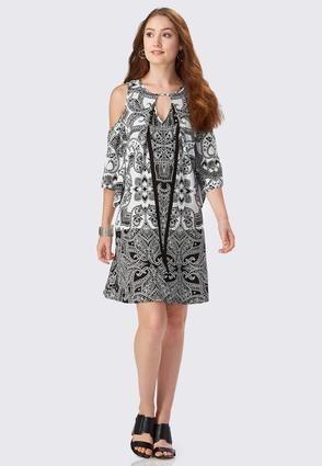 Cato Fashions Paisley Print A-Line Swing Dress-Plus  CatoFashions ... 7f55cc56d