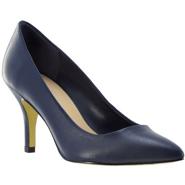 Bella Vita Define Women's Navy Pump ($105) ❤ liked on Polyvore featuring  shoes, pumps, navy, navy blue shoes, high heeled footwear, navy blue pumps…