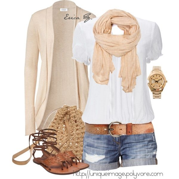 Easy, pretty and casual. I don't do jean shorts...But maybe this summer I'll try.