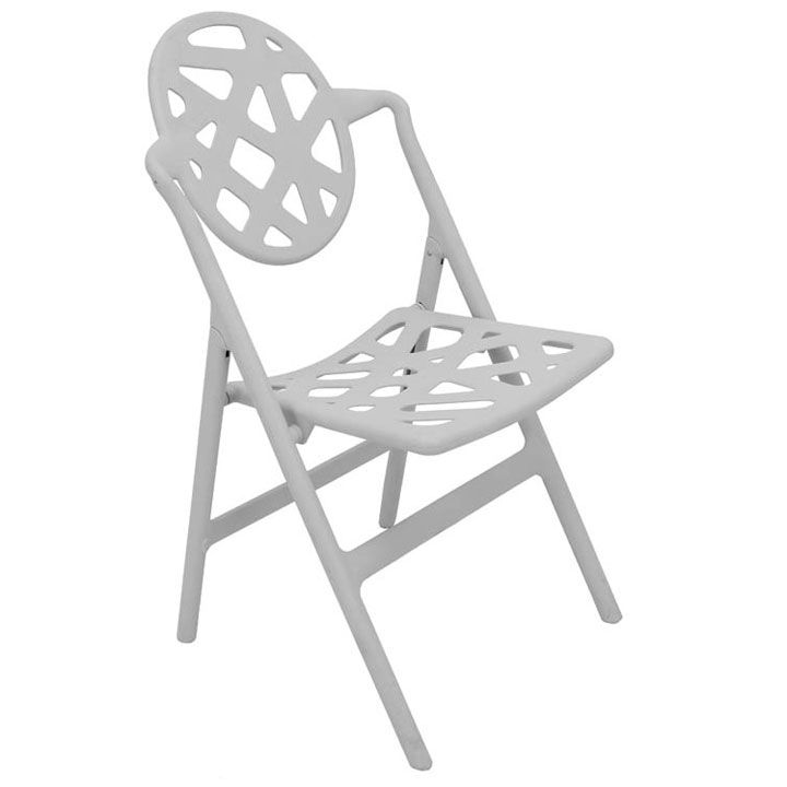 The Typohoon Folding Chair with its unique pattern will add another dimension to your space. This modern chair is UV protected so it can be used outdoors, rain or shine!