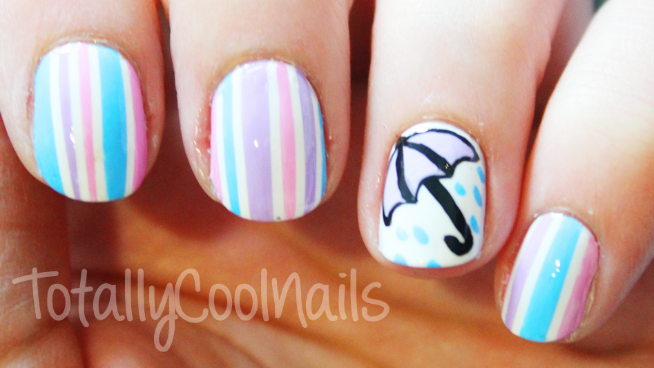 Rainy Day Nail Art Tutorial By Totally Cool Nails On Youtube Nails