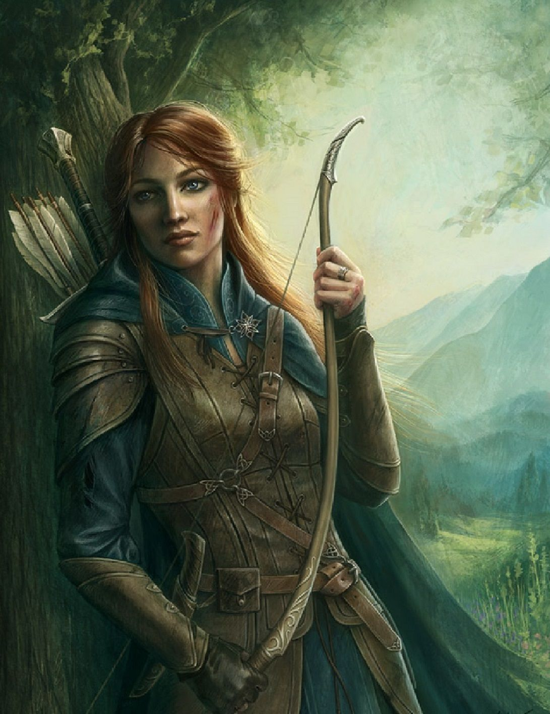 Fantasy female archer