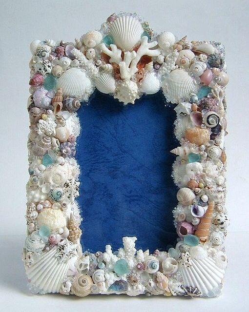 marco para foto o espejo | Conchas de mar | Pinterest | Marcos para ...