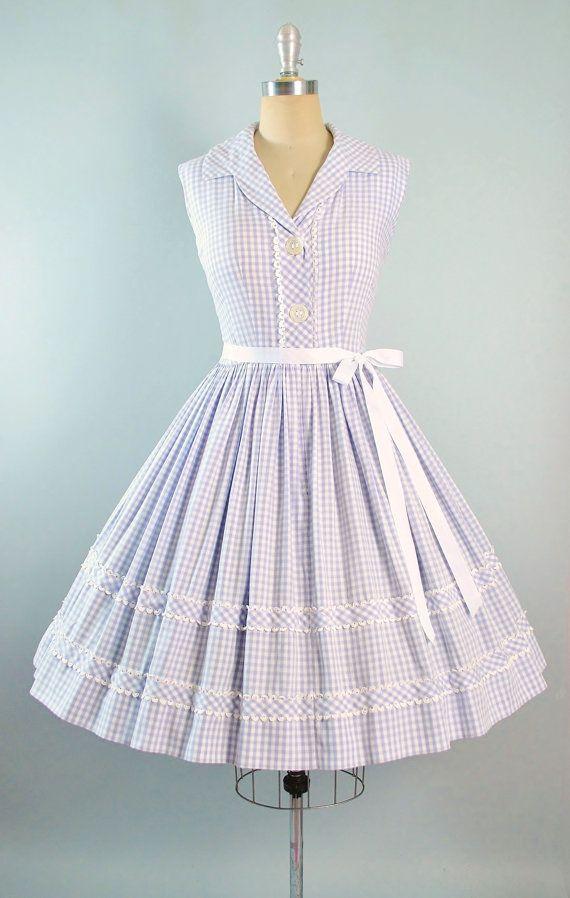 Vintage 50s Dress / 1950s Sundress LAVENDER by GeronimoVintage ...