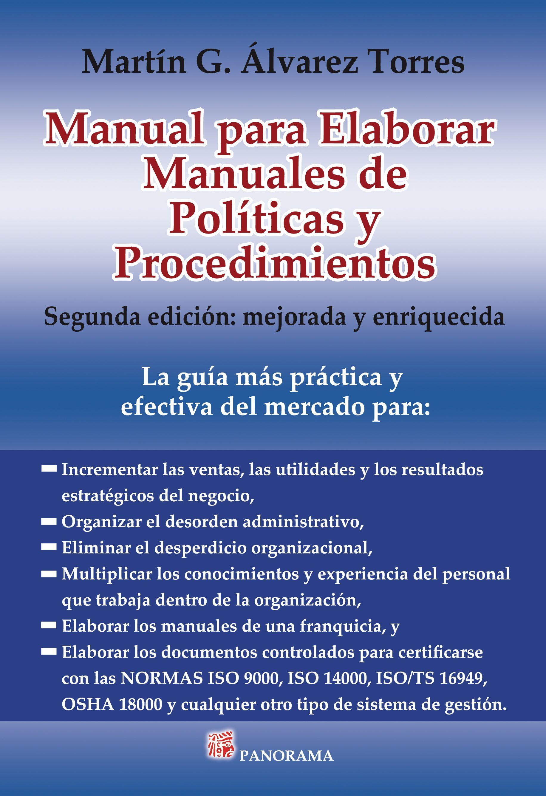 Manual para elaborar manuales de pol ticas y for Manual de procedimientos de una empresa de alimentos