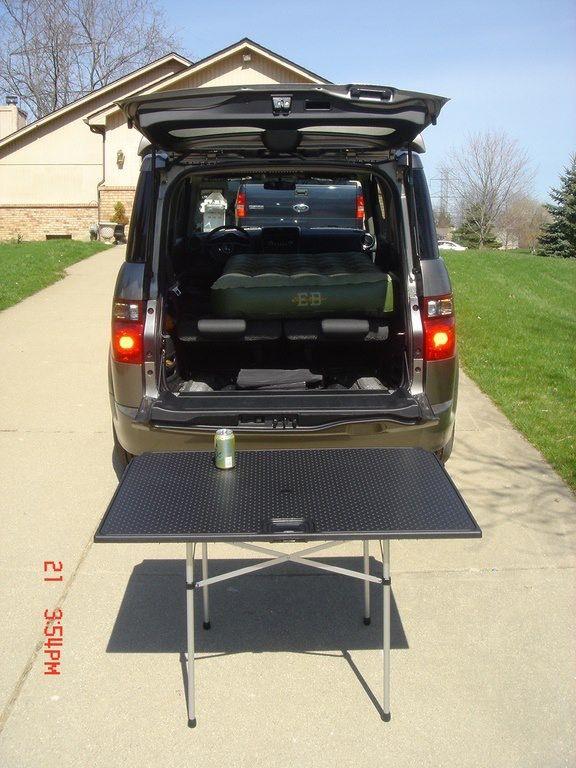 Honda Element Table >> Honda Element Table Leg Accessory The Rear Floor Cover Would Clip