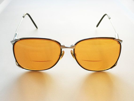 80fc3f2597eb2 Vintage Orange Tinted Prescription Eyeglasses