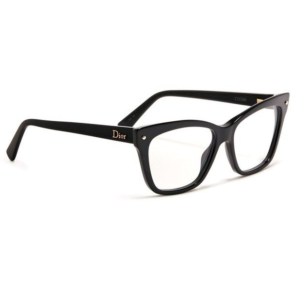 a0428c1f849 Dior Squared cat-eye optical glasses ( 310) ❤ liked on Polyvore featuring  accessories
