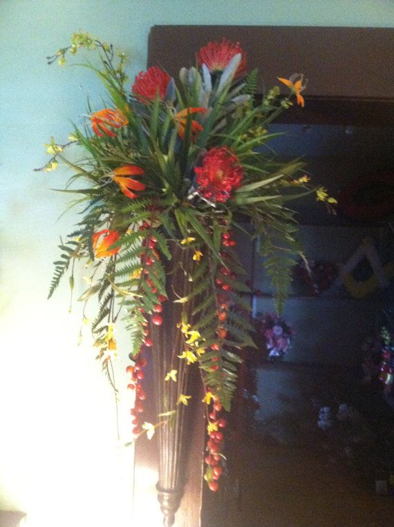 Pair Of Tropical Floral Wall Sconces By Southernaccentsetc