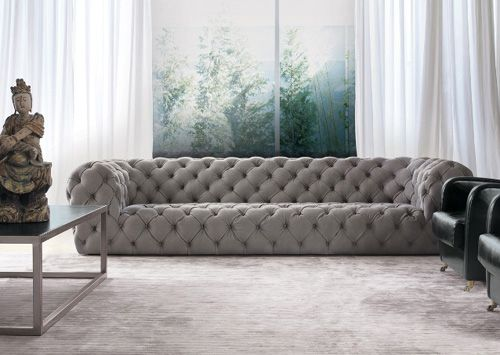 Pin di yang su baxter divani in pelle bianca divano for Divano trapuntato