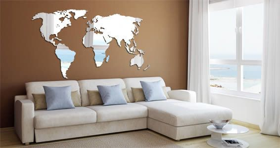 Perspex World Wall Map Small By Grapeskin Office Artwork - World map for office wall