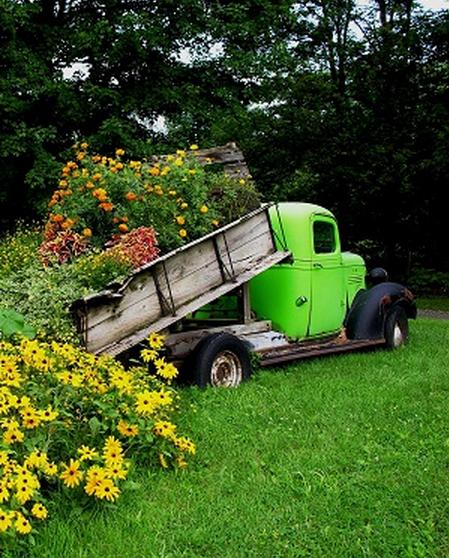Old Truck Flower Garden