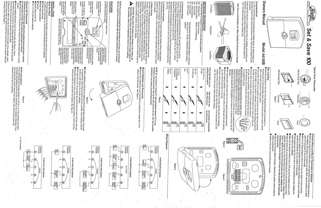 Hunter 44100b Thermostat 2wire Wiring Diagram Library