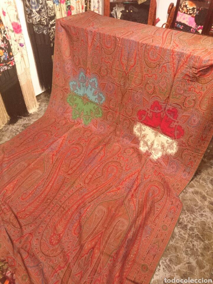 ESPECTACULAR MANTÓN ANTIGUO ALFOMBRADO (Antigüedades - Moda - Complementos - Mujer - Mantones Antiguos)