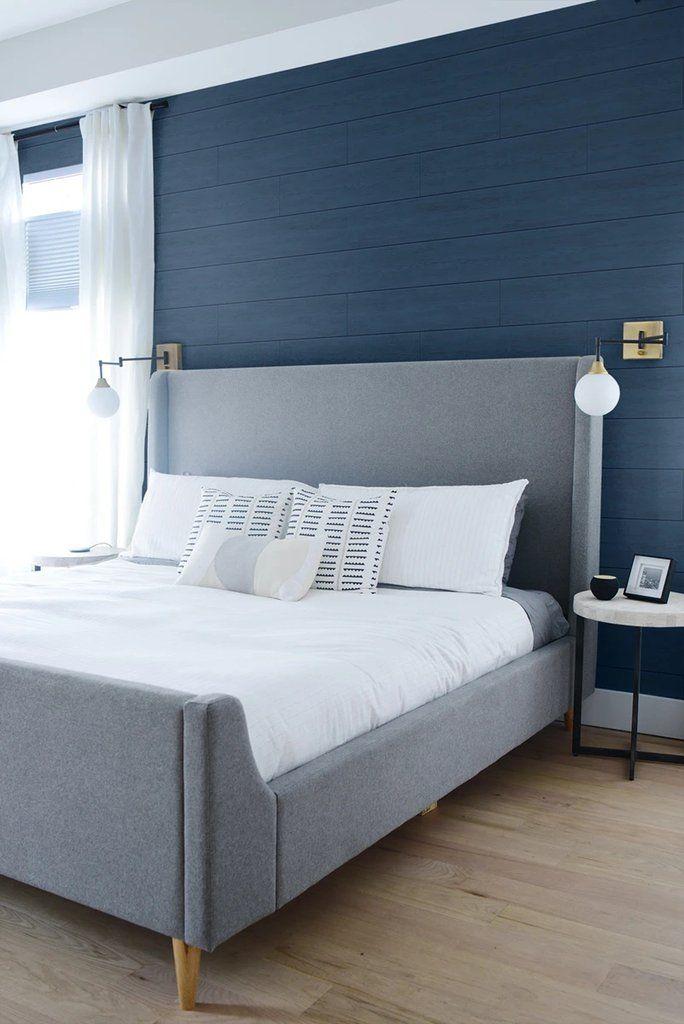 Coastal Blue Shiplap Peel And Stick Wallpaper By Nextwall In 2020 Peel And Stick Wallpaper Blue Bedroom Walls Shiplap