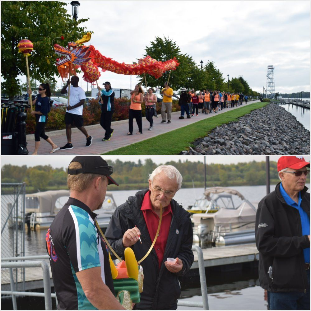 5th Annual International Boundary Waters Dragon Boat Festival on the Rainy River. Our International Falls, MN residents and staff also participated in an emotional Survivor's Tribute, with all members of the team on the water in boats with cancer survivors and medical staff. #GoodSamaritanSociety