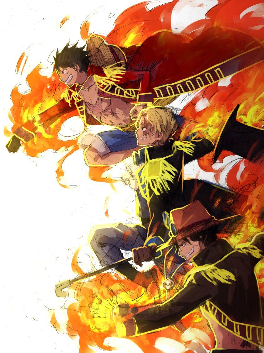 ASL Brothers Portgas D Ace Sabo Monkey D Luffy One Piece  d9e45f11474
