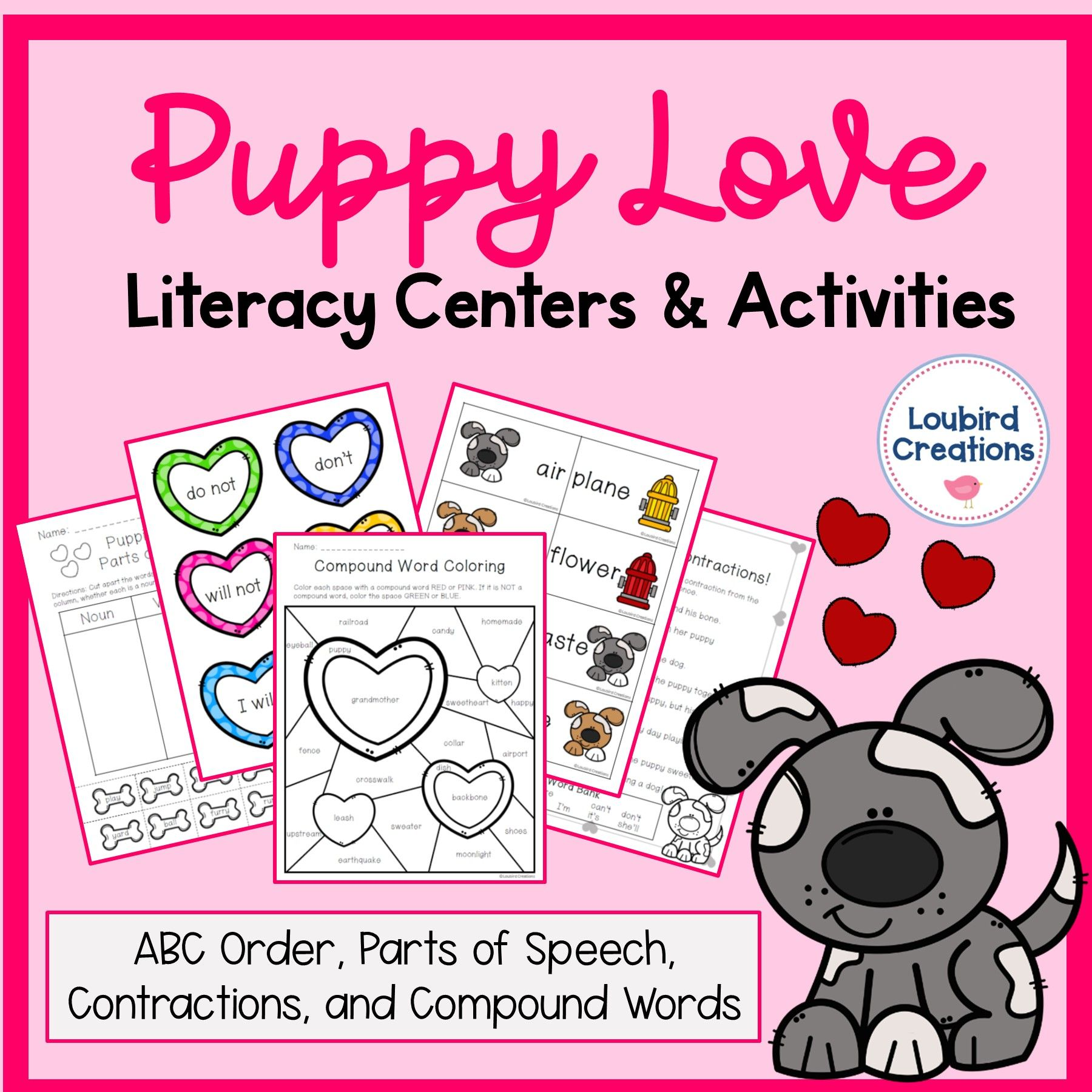 Valentine Compound Words Contractions Abc Parts Of
