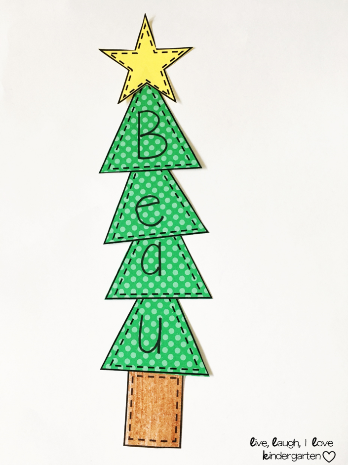 Christmas Tree Names Trees For Kids Christmas Names Name Crafts