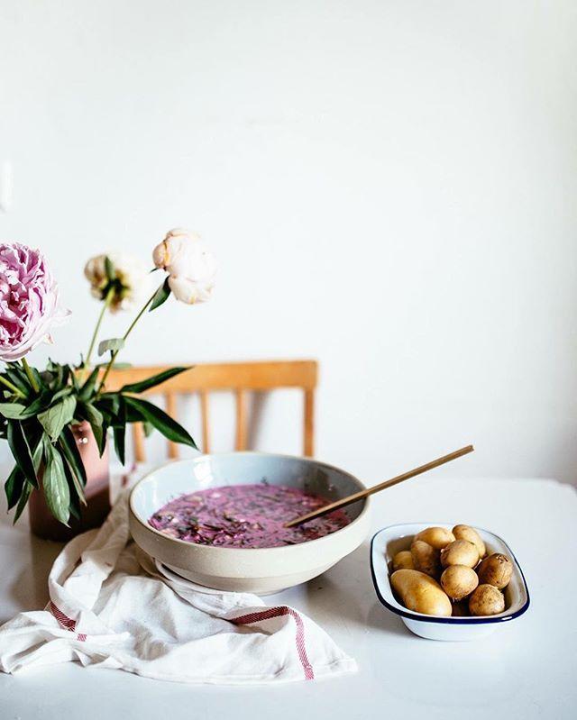 There is a spacial recipe for a traditional Lithuanian soup on the blog  #šaltibarščiai #lietuva #joninės