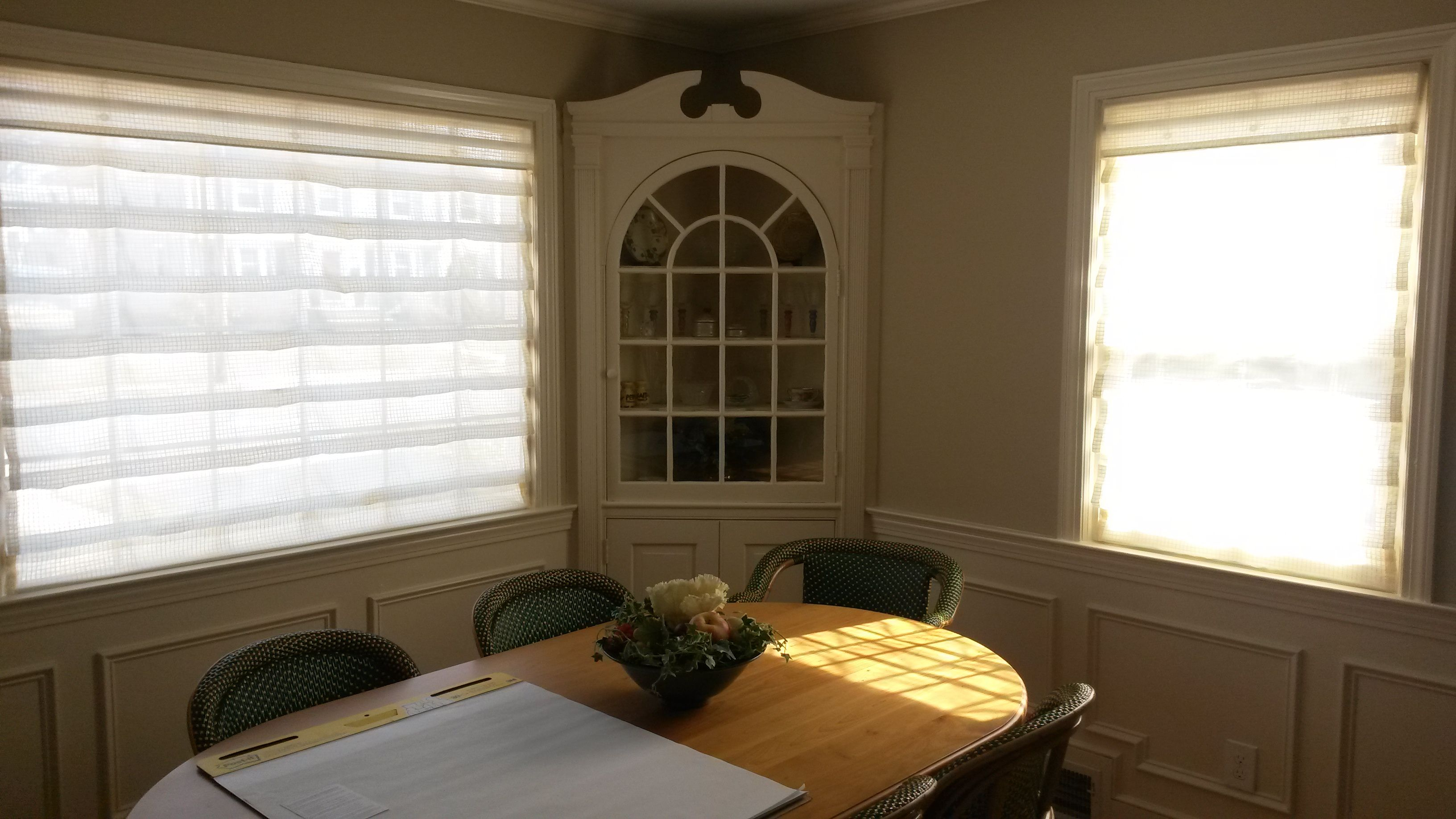 The Solution Is Sheer Hobbled Roman Shades By Horizons