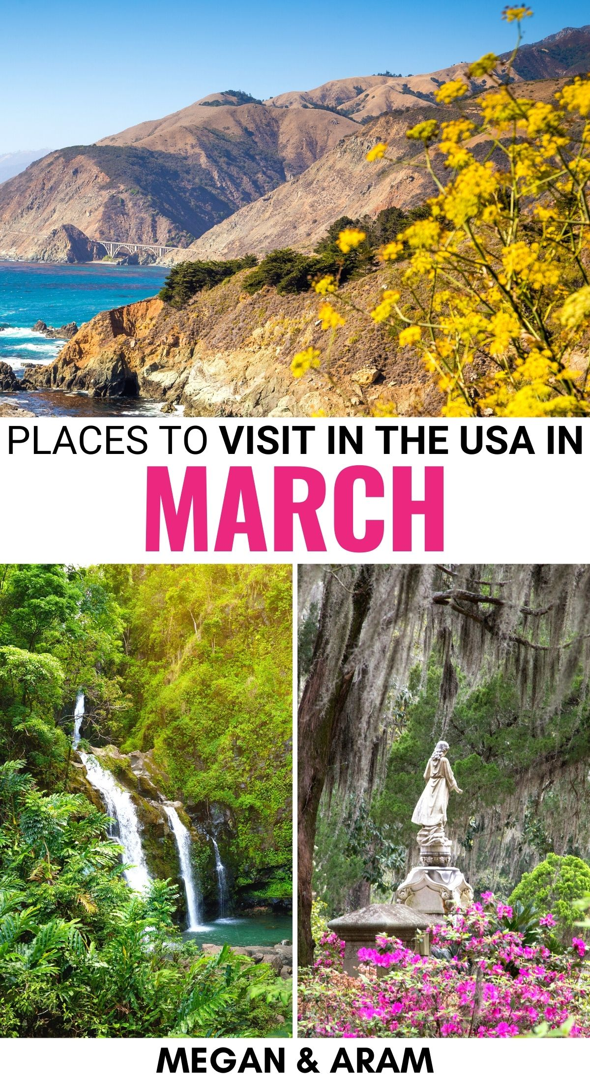 22 Best Places To Visit In March In The Usa Spring Tips In 2021 Cool Places To Visit Places To Visit Places To Travel