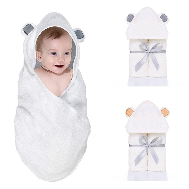 Baby Bath Towel Cartoon Animals Hooded Blanket Kids Infant Bathrobe Toddler