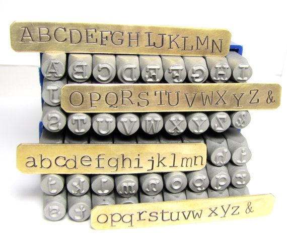Typewriter Letters Big 6 Mm Letters Upper Case Lower Case Etsy Typewriter Letters Alphabet Stamps Metal Stamping