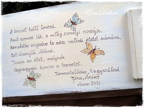 keresztelőre idézetek versek Mit írjunk a játéktároló ládába? | EraDekor   Festett Bútorok