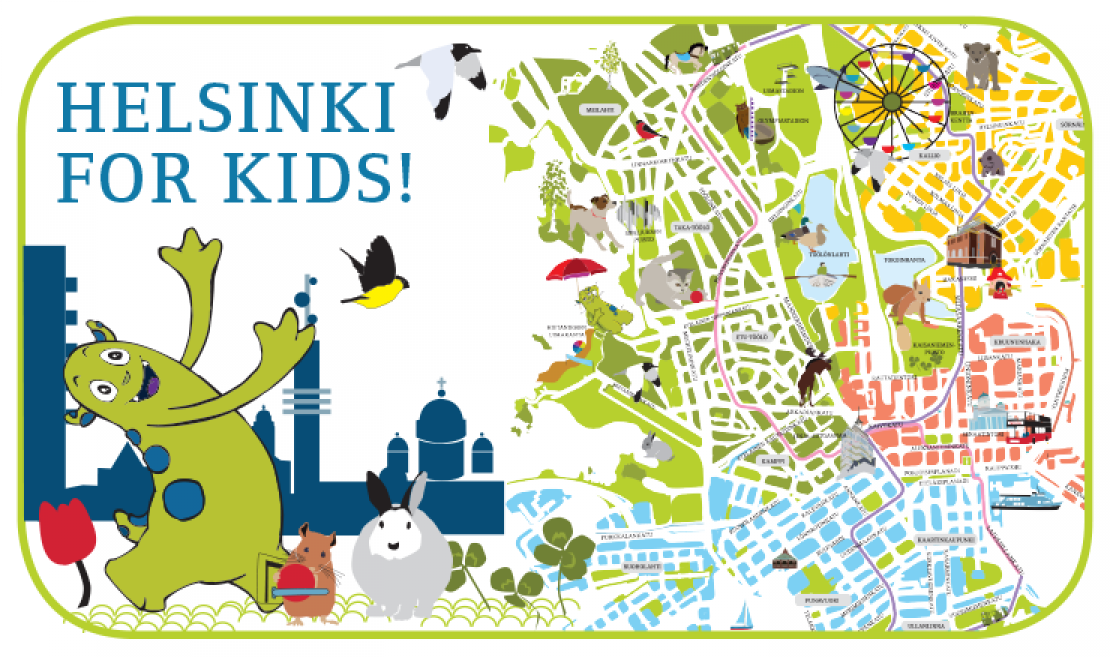New Helsinki for Kids illustrated map provides top tips for