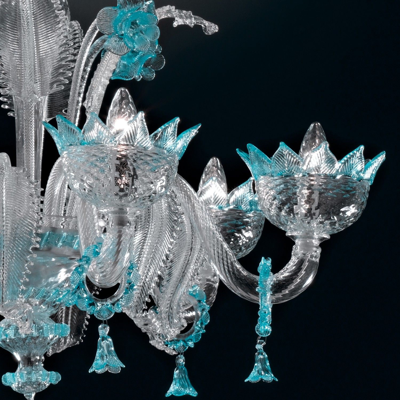 "kronenleuchter ""veneziano"" kunstglas aus murano exklusive kollektion"