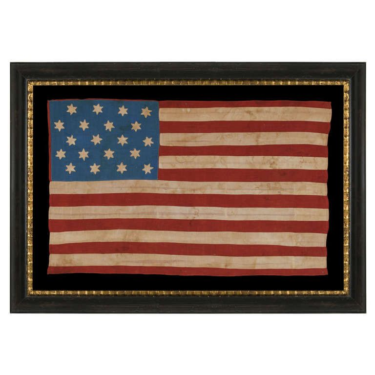 20 Six Pointed Stars And 15 Stripes On An Antique American Flag Made To Celebrate Mississippi Statehood 1861 1876 American Flag Flag America Decor