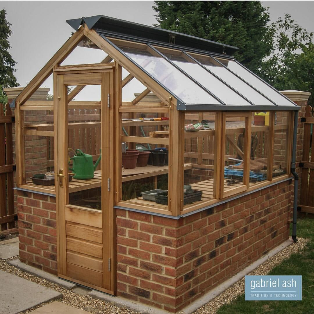 A Classic 6x8 Greenhouse Designed To Fit Onto A Brick Dwarf Wall All Our Classic Range Of Greenho Greenhouse Plans Wooden Greenhouses Small Wooden Greenhouses
