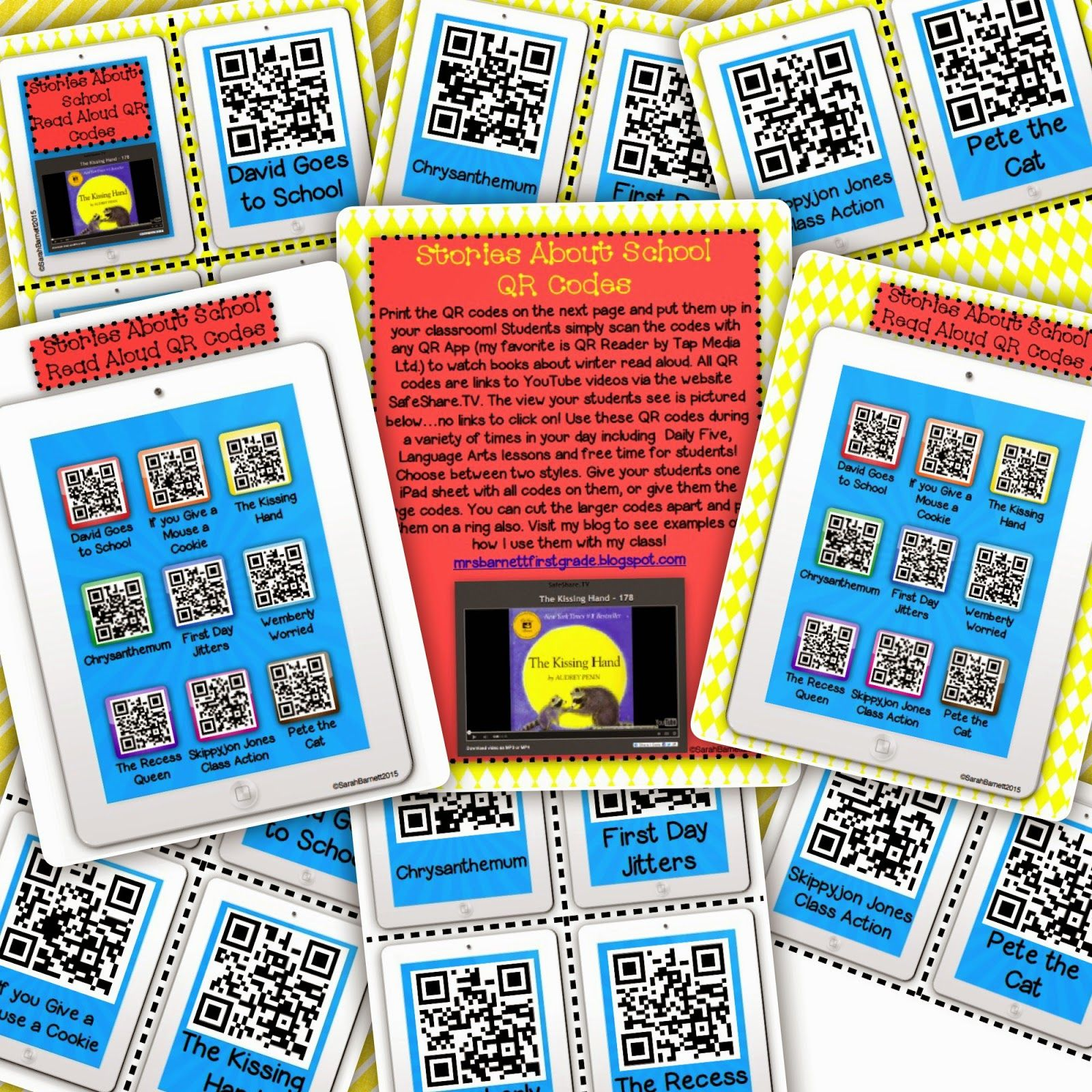 Freebie Free Qr Code Listening Center With Stories About