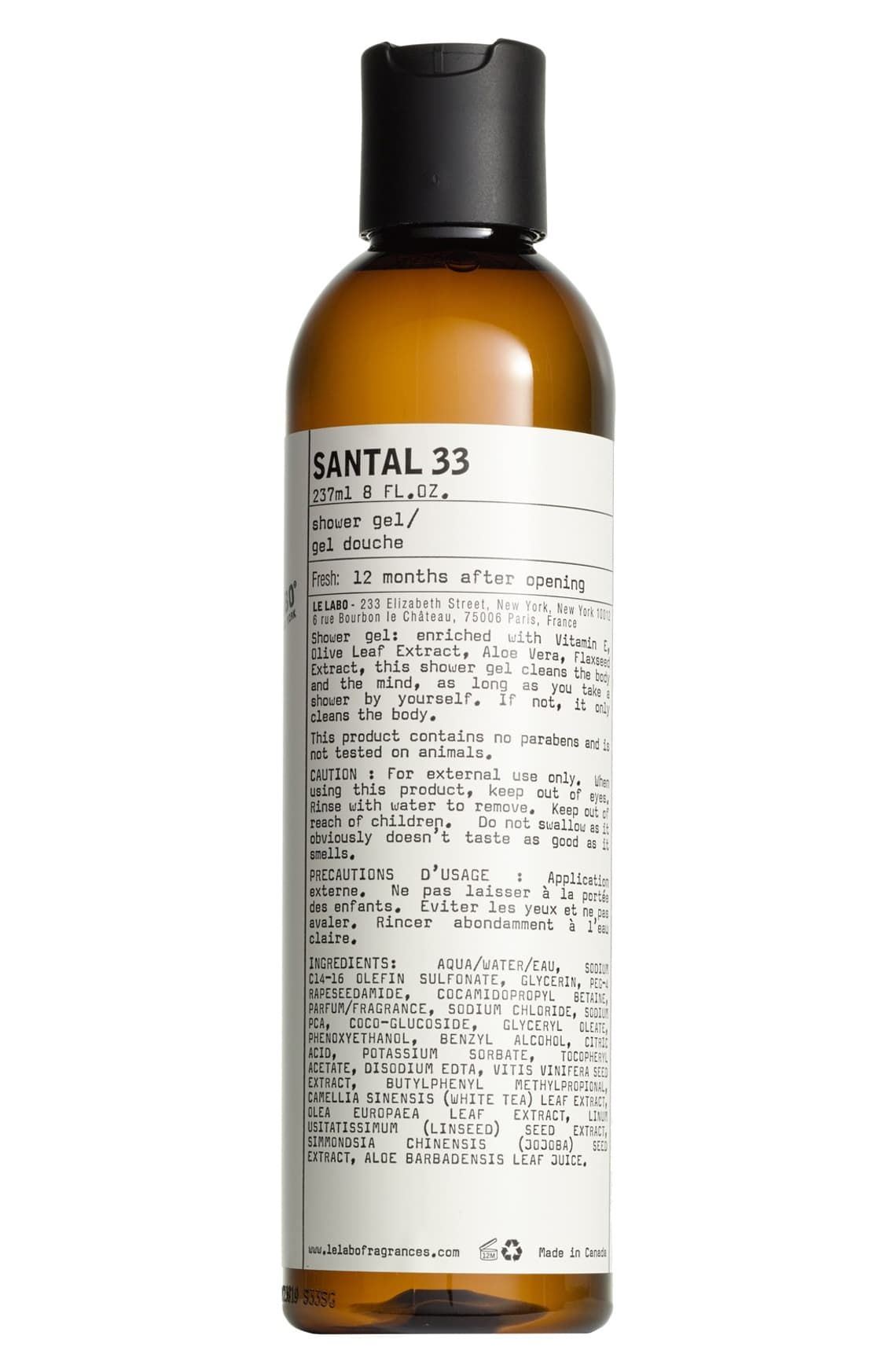 Le Labo Santal 33 Shower Gel Nordstrom Shower Gel Gel Paraben Free Products