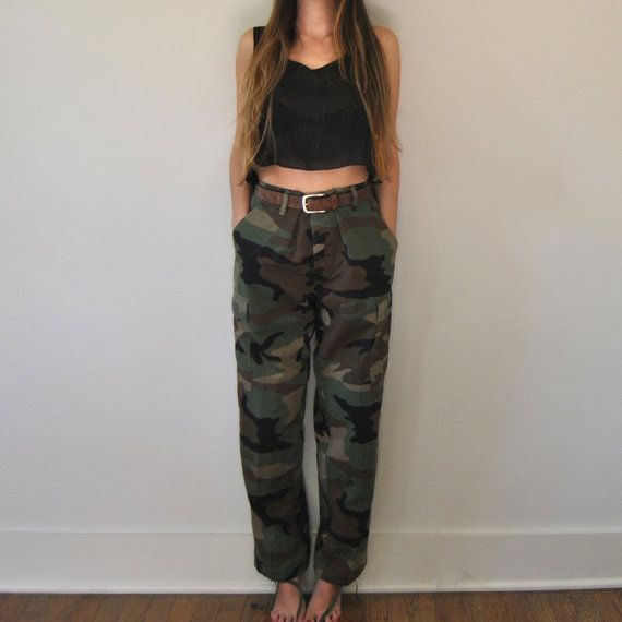 Womens Camouflage Cargo Trousers Casual Pants Military Army Combat Camouflage Jeans Sexy Women Casual Colorful Camou Jeans Harmonious Colors Bottoms