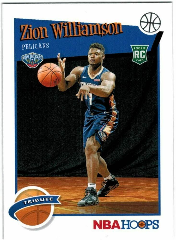 201920 panini hoops tribute zion williamson rookie card