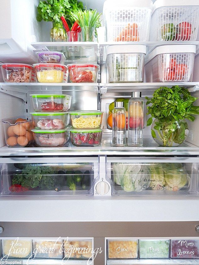 Is this the most organised fridge EVER  is part of Fridge Organization Inside Refrigerator - Adelaide blogger, Iryna Federico, is known for her supremely organised pantry  Now, she's given FEMAIL a look inside her incredible fridge and freezer