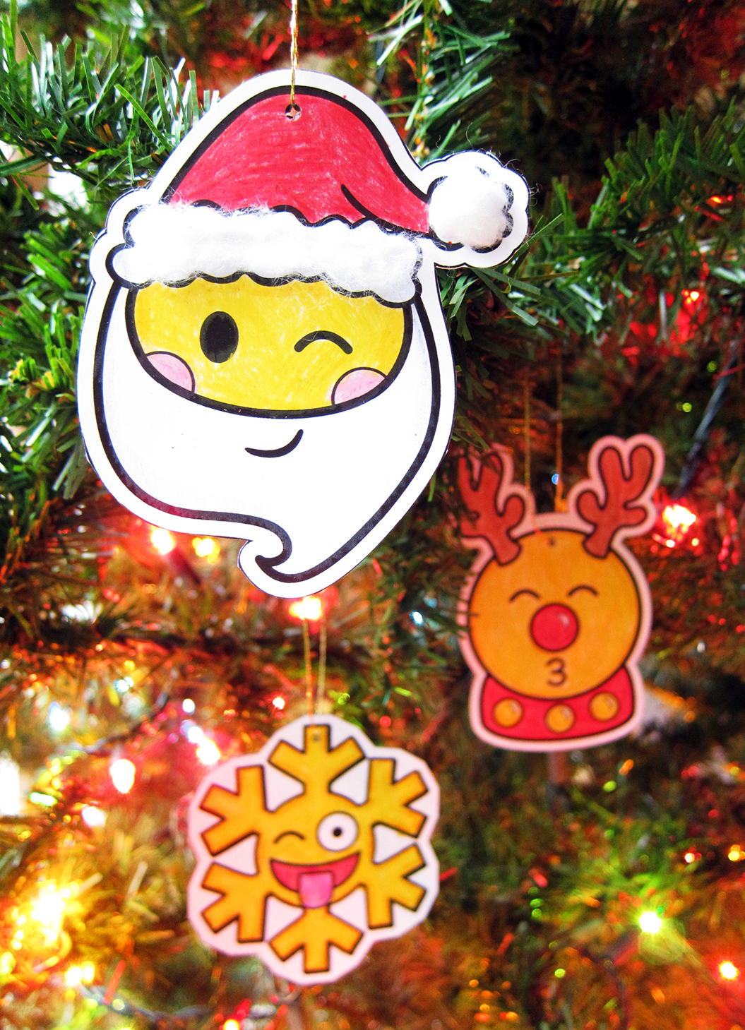 Emoji Ornaments Christmas Craft Holiday Activity