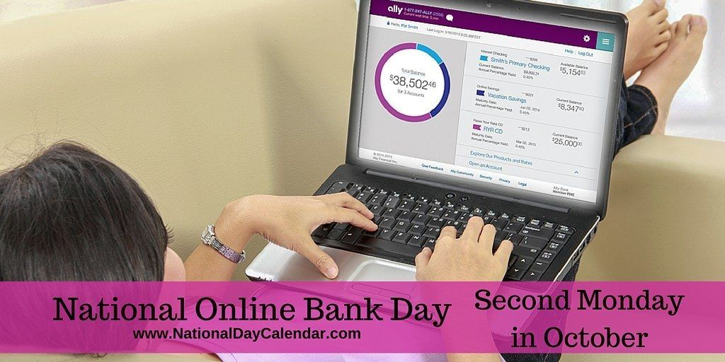 National Online Bank Day National Day Calendar National Day Calendar Day National Calendar